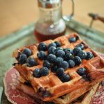 Blueberry Cinnamon Waffles