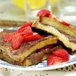 Nutella and strawberry french toast