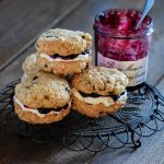 Oat and Blueberry Cookie Pies