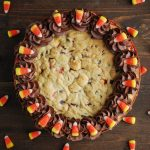 Candy Corn Cookie Cake