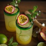 mint and passionfruit rum punch