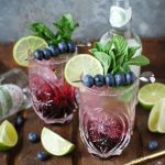 Blueberry and Elderflower Virgin Mojito