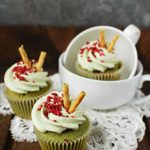 Matcha and raspberry cupcakes