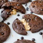 Peanut Butter Stuffed Chocolate Chip Cookies