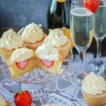 strawberry prosecco cupcakes