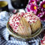 Matcha, White Chocolate and Raspberry Madeleines