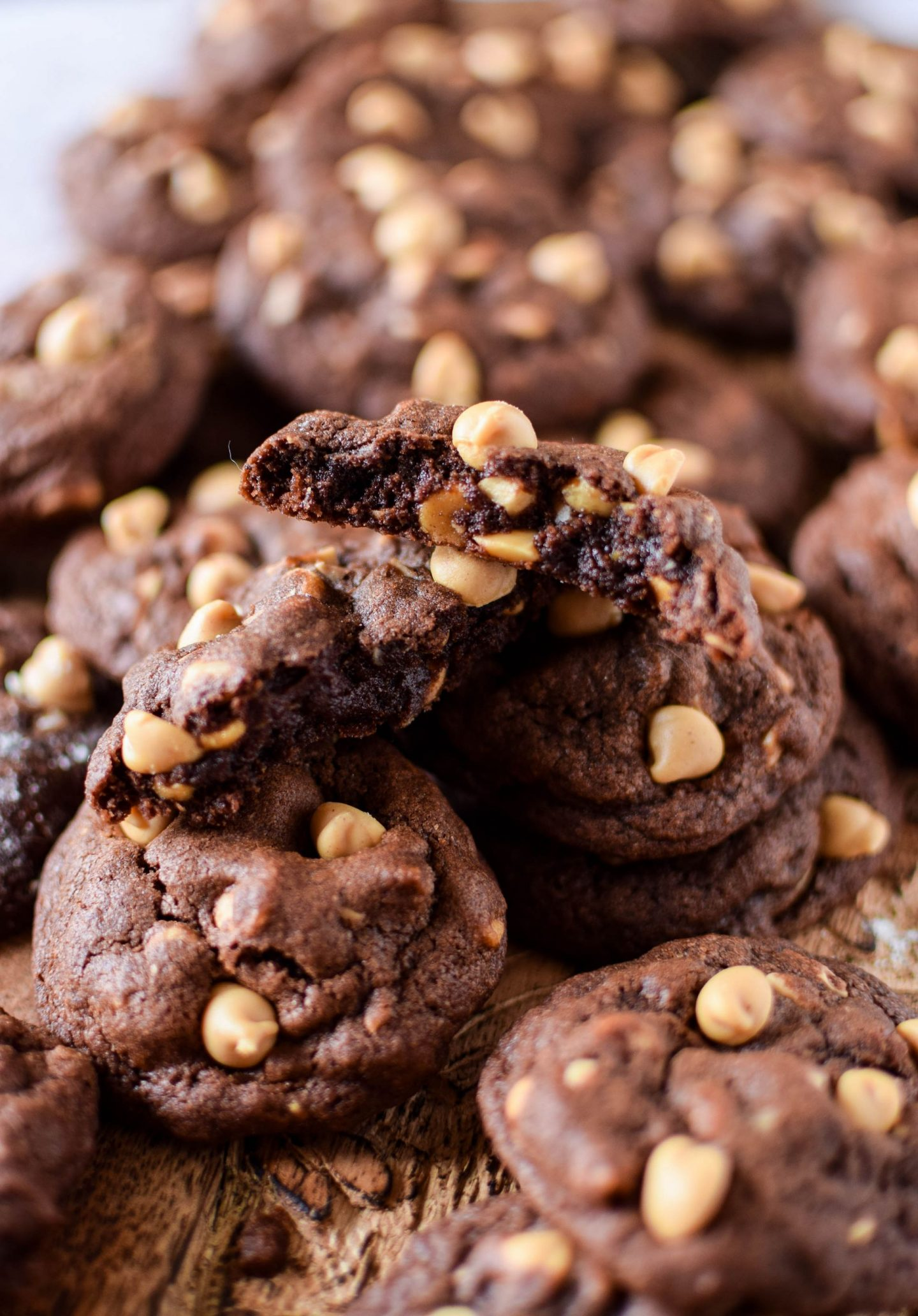 cross section of Chocolate Peanut Butter Cookies