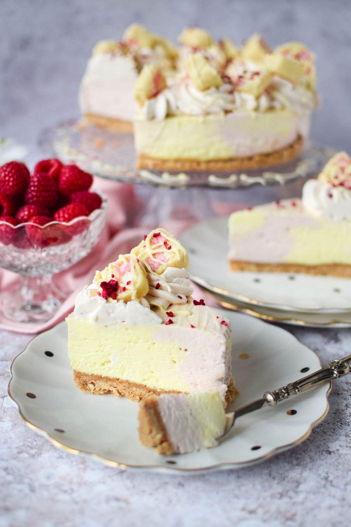Battenberg Cheesecake
