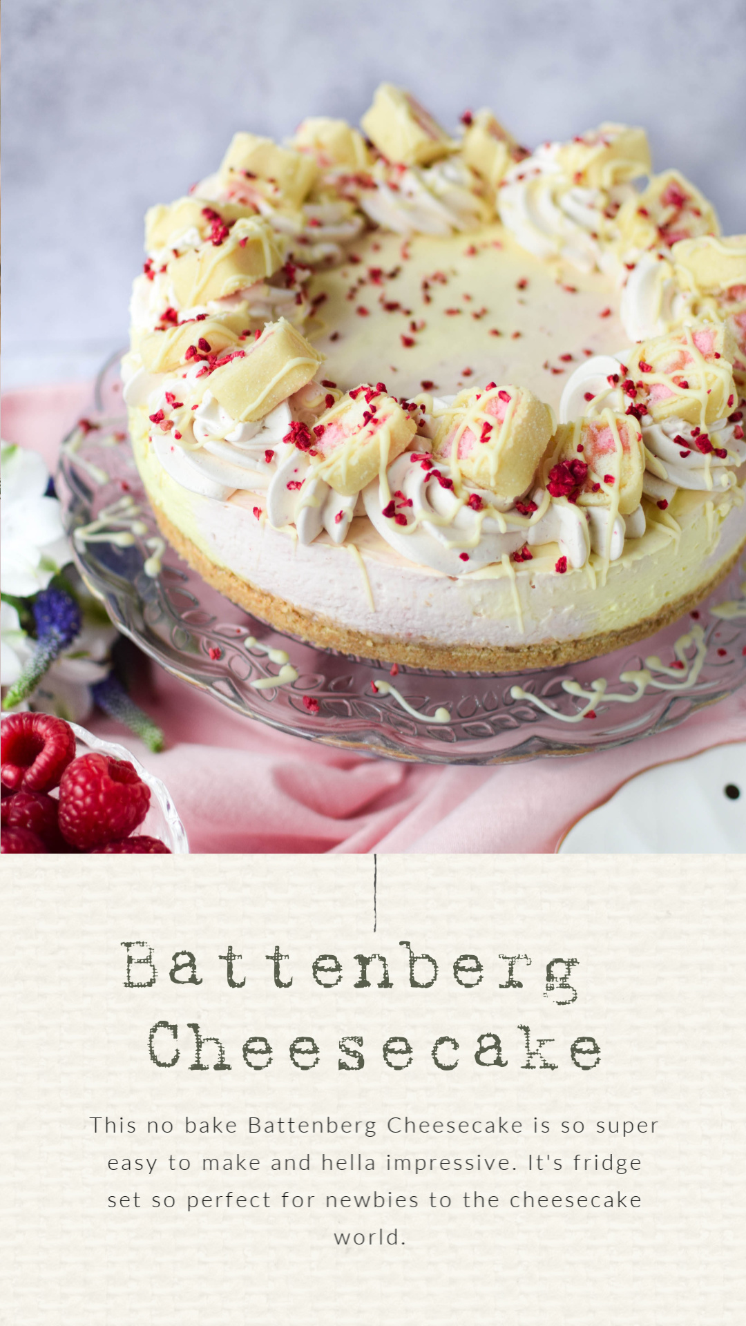 battenberg cheesecake