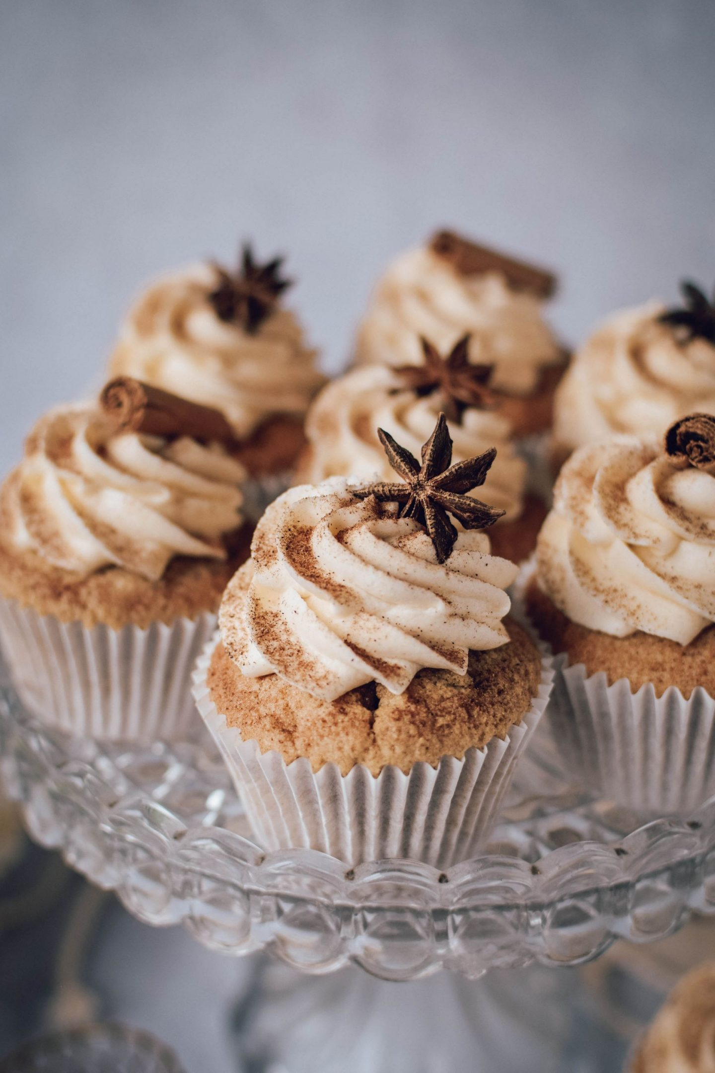 close up of Chai Spiced Cupcakes