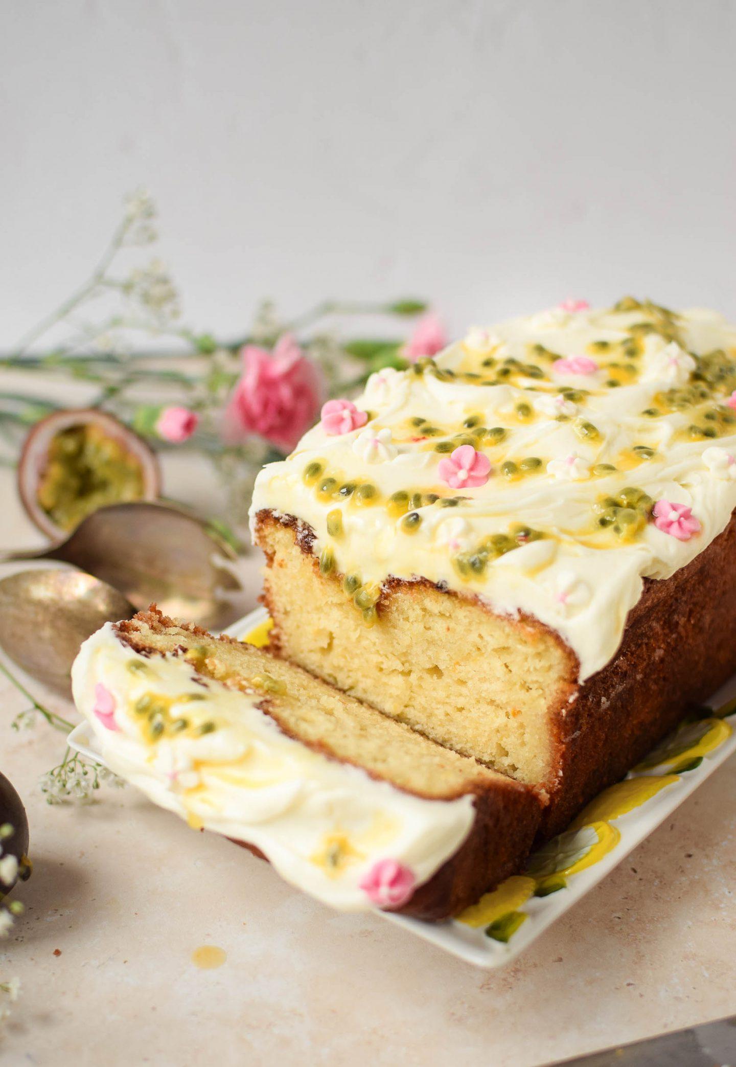 Passionfruit Loaf Cake